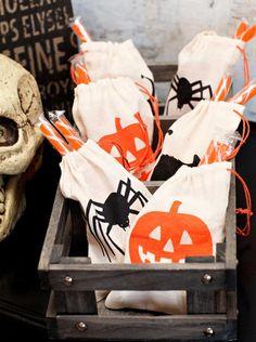 halloween linen bags