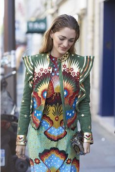 Art Director and Fashion Consultant Sofia Sanchez de Betak wows in Valentino at fashion week