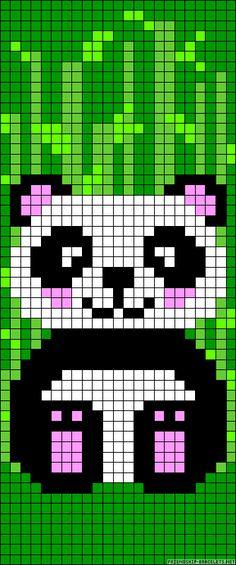 Panda bear perler bead pattern