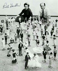 Ruth & Elliott Handler with Barbie dolls | founders of Mattel