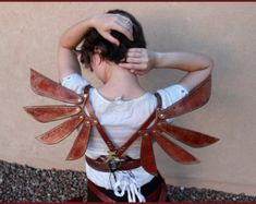 Steampunk Leather Costume Fairy Wings