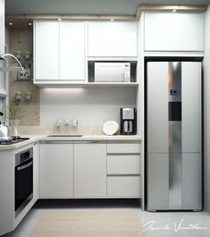 Browse photos of Small kitchen designs. Discover inspiration for your Small kitchen remodel or upgrade with ideas for organization, layout and decor. Kitchen Room Design, Diy Kitchen Decor, Kitchen Sets, Interior Design Kitchen, Man Home Decor, Trendy Bedroom, Bedroom Neutral, Bedroom Simple, Neutral Bathroom