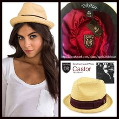 """Brixton Fedora Wide Brim Hat Brixton Fedora Wide Brim Hat NEW WITH TAGS  RETAIL PRICE: $48   * Castor construction; Approx. 2"""" brim.  * Contrasting ribbon trim accent w/logo. Lined in burgundy satin & a black internal ribbon trim.   * Allover smooth weaved texture.  * Tagged size L = 7.5 (60 cm) One size fits many, approx a 23.6"""" circumstance.   * Unisex versatility.  Fabric: 100% Paper Color: Tan-brown  Item:  No Trades ✅ Offers Considered*/Bundle Discounts✅  *Please use the blue 'offer'…"""