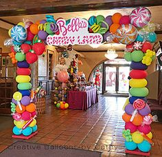 Concepts Birthday Get together Balloons Decorations Backdrops 🎈 - Balloon 🎈 Decorations - Birthday Party Candy Theme Birthday Party, Candy Land Theme, Cars Birthday Parties, Candy Party, Birthday Balloons, Birthday Ideas, Party Treats, 5th Birthday, Mouse Parties