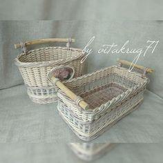 Arts And Crafts Storage Baskets On Wall, Wicker Baskets, Storage Baskets, Newspaper Basket, Newspaper Crafts, Paper Basket Weaving, Arts And Crafts Storage, Tie Dye Crafts, Knit Basket