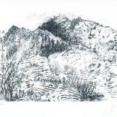 Italienische Landschaft von Günter Grass aus dem Jahr 2009