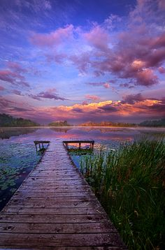 Scenery ~~And Silence, morning at the lake, a view from the pier, by Phil Koch~ Beautiful Sunset, Beautiful World, Beautiful Images, Most Beautiful, Pretty Pictures, Cool Photos, Landscape Photography, Nature Photography, Photography Editing
