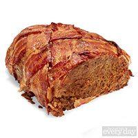 Bacon- Wrapped Turkey Meatloaf - Rachel Ray