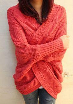 Pull en tricot de grande taille pour femme à manches chauve-souris