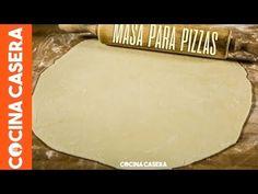 Masa de Pizza fina y crujiente - Recetas de Cocina Casera fáciles y sencillas - Cocina Casera Pizza Fina, Side Dishes, Food And Drink, Dairy, Pasta, Cheese, Cooking, Skype, Evernote