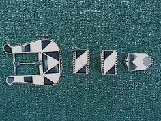 Vintage sterling silver western ladies belt buckle by rTolens, $100.00
