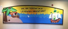 Teach and Shoot: Classroom Posters & Bulletin Boards Ocean theme board, pirate theme board, welcome back board Nautical Bulletin Boards, Back To School Bulletin Boards, Classroom Posters, Classroom Themes, School Wide Themes, Teach Like A Pirate, Island Theme, Pirate Theme, Ocean Themes