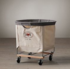 Laundry Cart Round Natural Medium from Restoration Hardware. Saved to Home Decorateness. Laundry Cart, Laundry Room, Entry Closet, Restoration Hardware, Four Square, Home Furnishings, Luxury Homes, Industrial, Steel