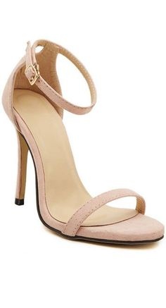 034f19838181 Sexy Women s Sandals With Stiletto Heel and Suede Design Strappy Heels