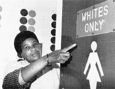 The picture was taken during the apartheid moment in South Africa in past. It shows how even public facilities were separated according to people's colours. Using a facility not assigned to your colour was an offence according to the laws back then. Women In History, World History, Black History, Maleficarum, Horrible Histories, Jim Crow, African Diaspora, Freedom Fighters, African American History