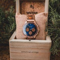 Soča (Koa/Blue) | Holzkern Wood Watches Most Beautiful Watches, Amazing Watches, Cool Watches, Simply Beautiful, Wood Watch, Chronograph, Accessories, Money, Bracelet Watch