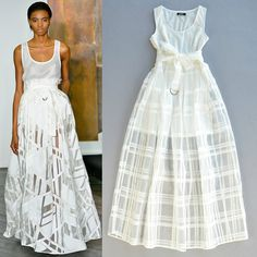 Cheap Dresses, Buy Directly from China Suppliers:New spring / summer 2015 runway dress women's high quality catwalk show cotton mesh plaid sleeveless organza long