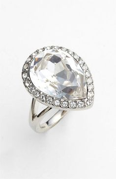 @Amanda Catherine Givenchy 'Rock Crystal' Cocktail Ring | Nordstrom