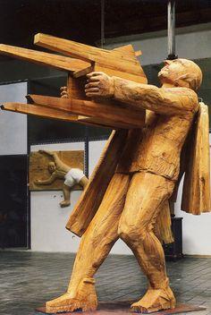 AREL-ARTE: FRANCISCO LEIRO Contemporary Sculpture, Wood Sculpture, Wood Carving, Wood Art, Modern Art, Woodworking, Statue, Inspiration, Figurative