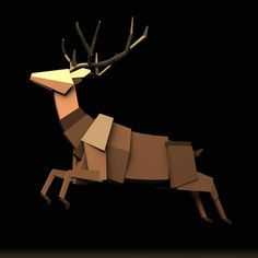 Boxy Stag Rig 3D Ma - 3D Model