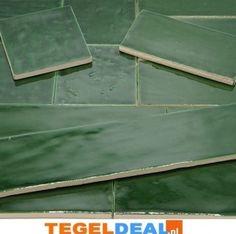 TegelDeal.nl• Product   Emerald Green EST. 7,5x30 á 34,50/m2 OP VOORRAAD, handvorm Smaragd- Victorian Green, groene wandtegels   Groen Olive Jade SageGroen-Olive-Jade-Sage, PRODUCTIE SPANJE, Rechthoek-20x40cm<, Handvorm, Keramisch, Wandtegel, Aktie