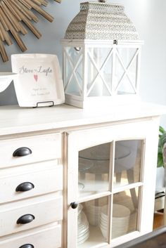 Farmhouse Chic Buffet Table from Homegoods