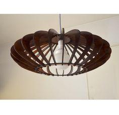 Pendant Wood Lamp Laser Cut Made | eBay