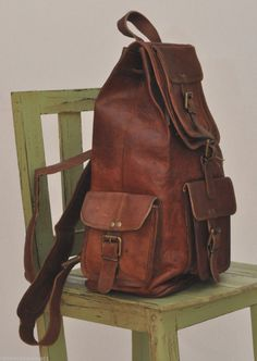 86b13b6b7f Extra Off Coupon So Cheap Mens Genuine Leather Big Large Backpack Rucksack  Laptop Collage Bag