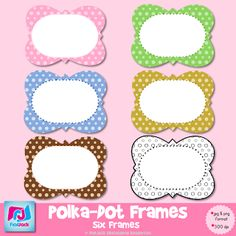 FREE polka-dot frames to use for your classroom or your commercial teacher creations. :)