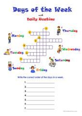 Days and Months worksheet - Free ESL printable worksheets made by teachers