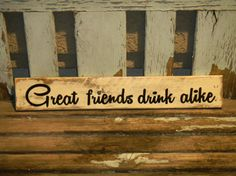 NEW Rustic pallet wood sign for beer wine cocktail lover by ThreeDrinkMinimum on Etsy