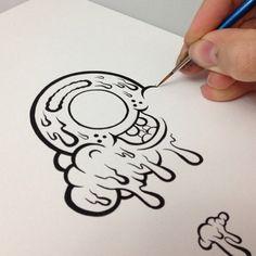 buff monster - Google Search Doodle Art Drawing, Graffiti Drawing, Graffiti Lettering, Street Art Graffiti, Hand Lettering, Art Drawings, Vexx Art, Graffiti Designs, Graffiti Characters