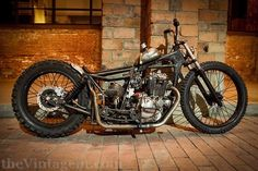 1987 Kawasaki 250 custom bobber motorcycle