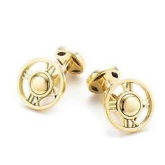 Atlas Cuff Links in 18k Gold- As seen in the May/June issue.