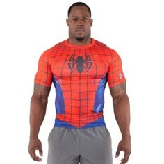 Under Armour Men's Alter Ego Compression Shirt - Iron Man, Hulk, Spider-man.  These are great!