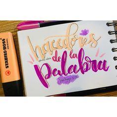 Pero sed hacedores de la palabra, y no tan solamente oidores, engañándoos a vosotros mismos. Santiago 1:22 . . . #lettering  #arte #art #biblia #bible  #bibleverse  #verciculosbiblicos  #notes @prismacolor  #prismacolor #prismacolorjunior 🥰 @stabilocolombia @stabilo #stabilo #stabiloboss #brushlettering #brushpen Stabilo Boss, Prismacolor, Lettering, Instagram, The Originals, Bible, Santiago, Words, Dios