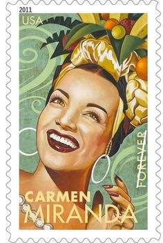 5 Unused Latin Music Legends Forever Postage Stamps // Selena / Carmen Miranda / Celia Cruz / Tito P Carmen Miranda, Old Posters, Vintage Posters, Travel Posters, Brazil Art, Tom Y Jerry, Pin Up, Postage Stamp Art, Latin Music