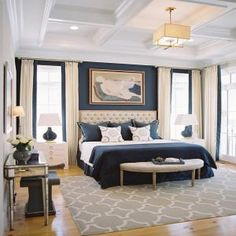A small master bedroom doesn't have to be a problem. Here are 25 beautiful bedrooms filled with great ideas for making the most of a small space.: An Elegant Master Bedroom