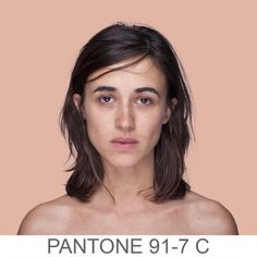 """12. humanæ tumblr by Angelica Dass: """"The project development is based on a series of portraits whose background is dyed with the exact Pantone® tone extracted from a sample of 11x11 pixels of the portrayed's face. """""""
