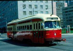 35mm Orig Slide TTC PCC #4678 Queen Line Toronto Ontario 1975