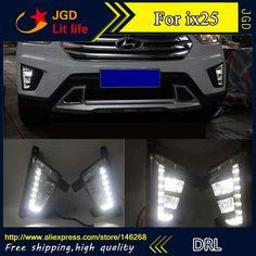 92.40$  Watch here - http://alij93.shopchina.info/1/go.php?t=32752840765 - Free shipping ! 12V 6000k LED DRL Daytime running light for Hyundai IX25 fog lamp frame Fog light  #buymethat