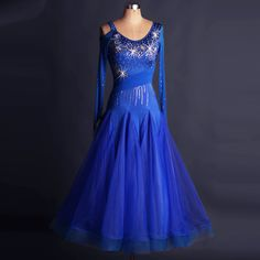 Cheap dress oriental, Buy Quality dress xxxl directly from China costume fireman Suppliers: standard dresses 2017 Can be customized ballroom dance competition dresses Long sleeves waltz dance costumes dress women Ballroom Dance Dresses, Ballroom Dancing, Dance Outfits, Dancing Outfit, Costume Dress, Ladies Dress Design, Dance Wear, Waltz Dance, Dance Costumes