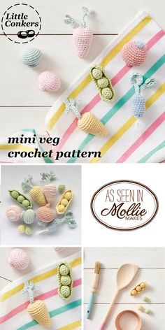 Crochet miniature vegetables pattern. Crochet these sweet mini vegetables. Issue 78 of @molliemakes