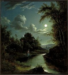 Artist Abraham Pether (1756-1812) Title A Landscape and River Scene