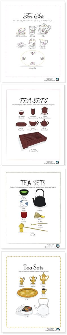 TEA SETS: English, Chinese, Japanese, and Indian Tea Sets