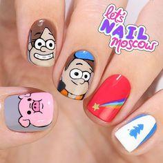 2,531 отметок «Нравится», 25 комментариев — Anastasia let's nail Moscow (@letsnailmoscow) в Instagram: «#GravityFalls #ГравитиФолз 💓 Выходные=сериалы, сериалы=классный маникюр. Кликайте по ссылке у меня…» Cute Acrylic Nails, Fun Nails, Adventure Time Nails, Cartoon Nail Designs, Bts Makeup, Disney Nails, Fall Nail Art, Black Nails, Nail Arts