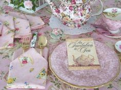 Tea Party Linens and Lace.
