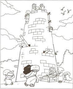 tower of babel preschool craft   10/12/14