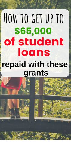 Grants to Pay Off Your Student Loans Faster Here are 11 amazing grants to help you payoff student loan debt.Here are 11 amazing grants to help you payoff student loan debt. School Loans, College Loans, School Scholarship, Scholarships For College, Graduate School, School Pay, School Tips, Federal Student Loans, Paying Off Student Loans