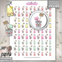 Printable Planner Stickers - Planner stamps for your Erin Condren planner, Filofax, KikkiK, any day planner or anywhere else. Work, home, school